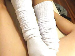 Footjob: Loose, Slouchy Socks