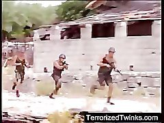 Army twinks having brutal gay sex