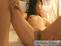 Tinny asian smoking and gets a big ride part5