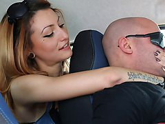 UNP001- Brat Car- Italian Girl Foot Smothering Man