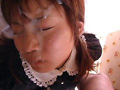 another japanese doll taking a big facial