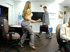 Amazing Big Tits Milf In Office