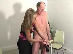 Hot Girl Jerked Old Men