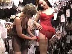 Sara shopping for lingerie