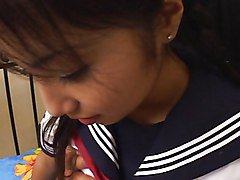 Japanese Schoolgirl Fucks And Swallows