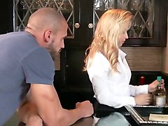 Blonde Latina Fucked Older Guy   Sucks Him Off