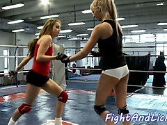 lesbian babes scissoring and wrestling